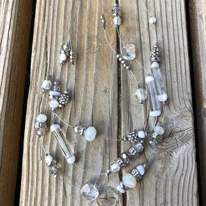 Stunning Chico's Floating Crystal Necklace!